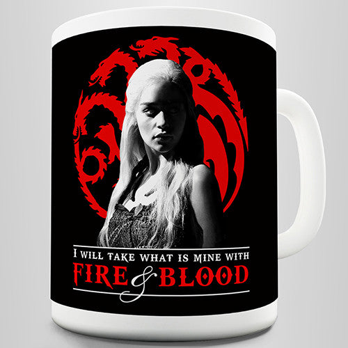 Fire & Blood Dragons Novelty Mug