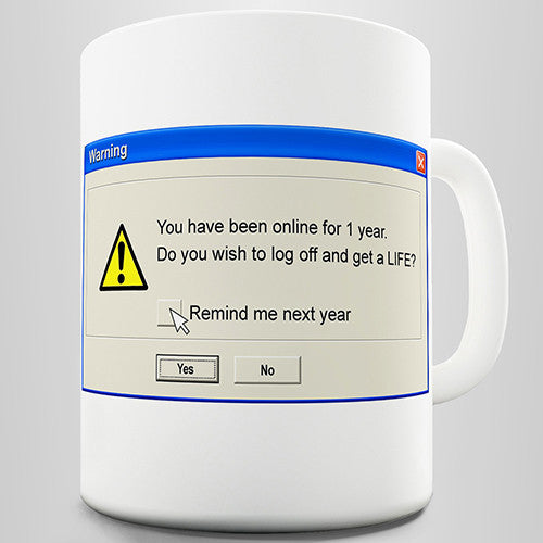 Funny Error Quote Novelty Mug