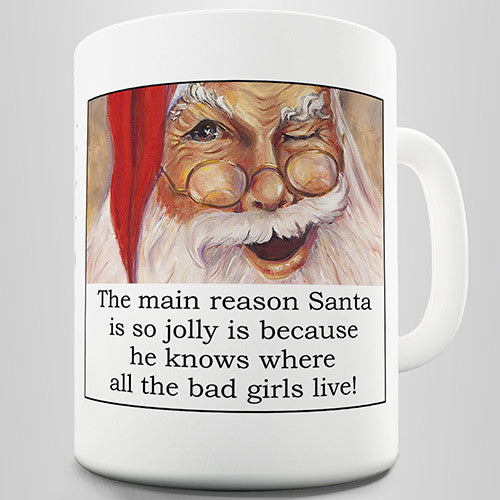 Santa's Bad Girls Novelty Mug