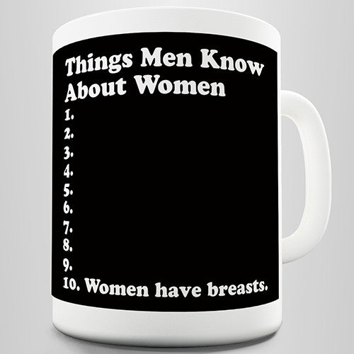 Things Men Know About Women Novelty Mug