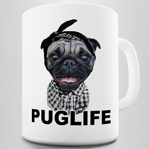 Pug Life Gangster Novelty Mug