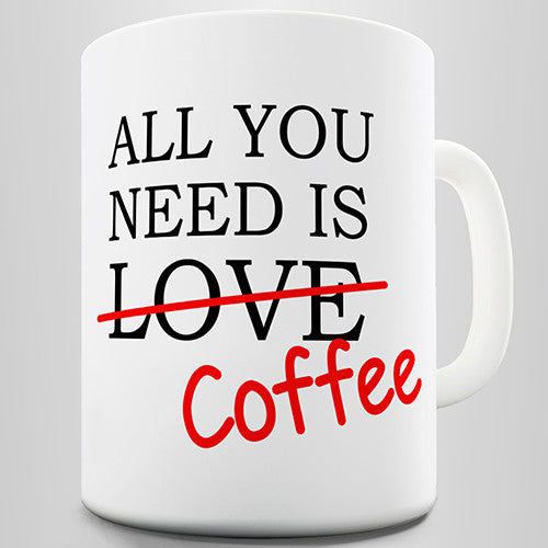 All You Need Is Coffee Novelty Mug