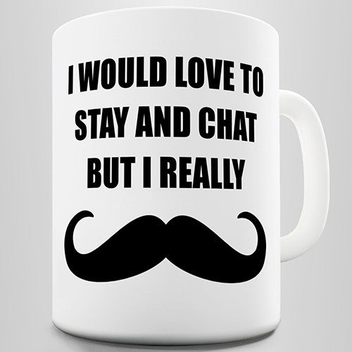 I Really Moustache Movember Novelty Mug