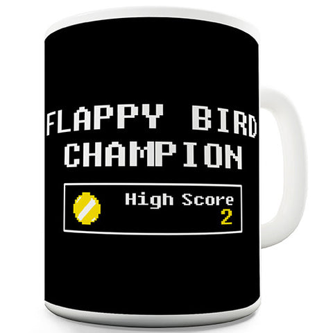 Flappy Bird Champion Novelty Mug