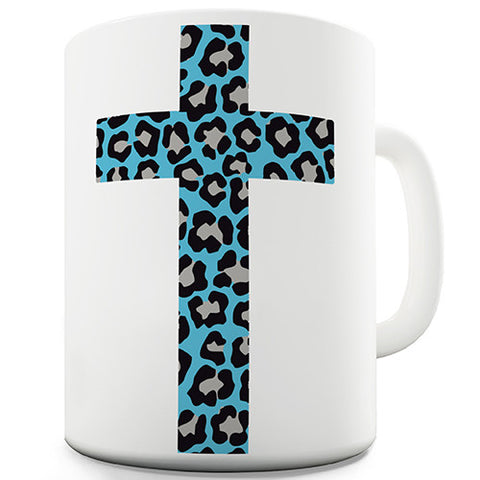 Leopard Print Cross Novelty Mug