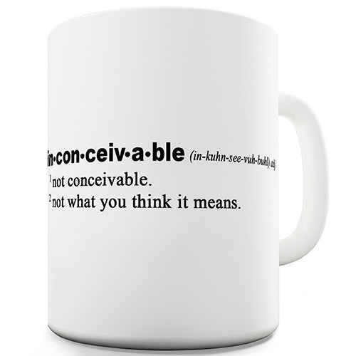 Definition Of Inconceivable Novelty Mug