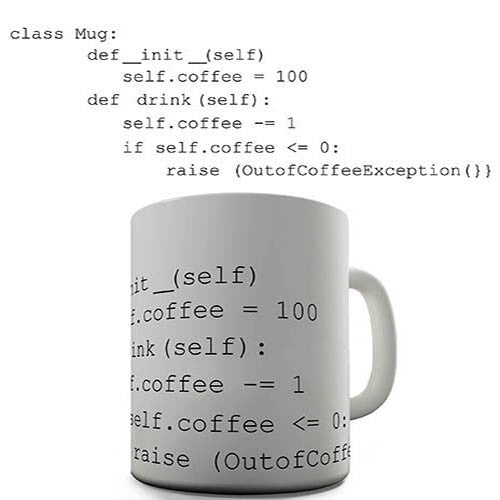 Class Coffee Code Novelty Mug