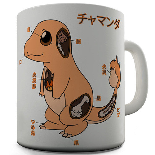 Charmander Anatomy Novelty Mug