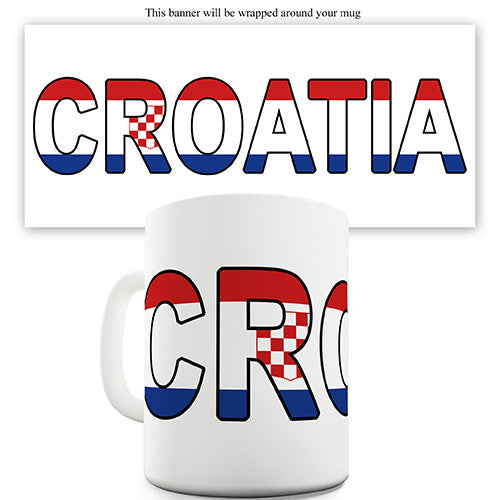 Croatia World Cup Flag Novelty Mug