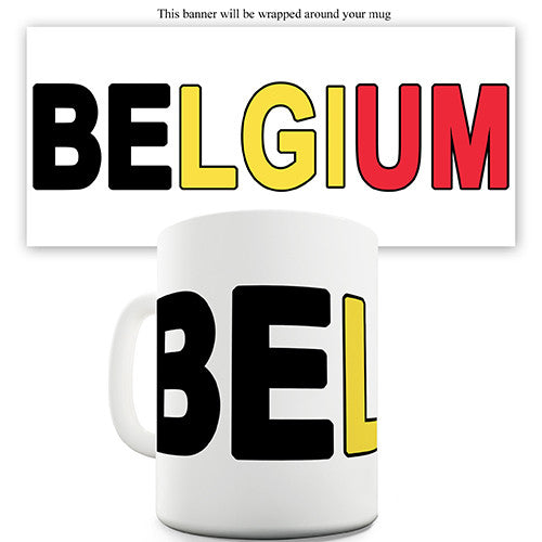 Belgium World Cup Flag Novelty Mug