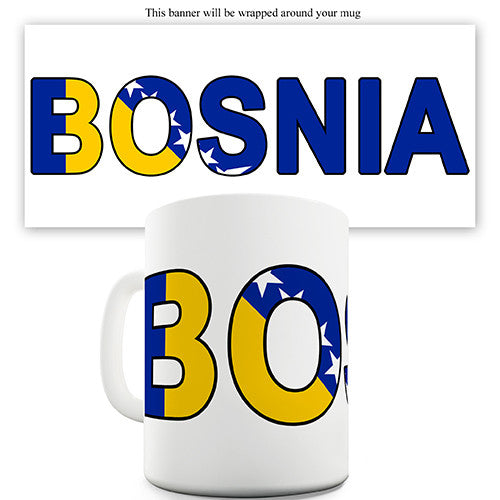 Bosnia World Cup Flag Novelty Mug