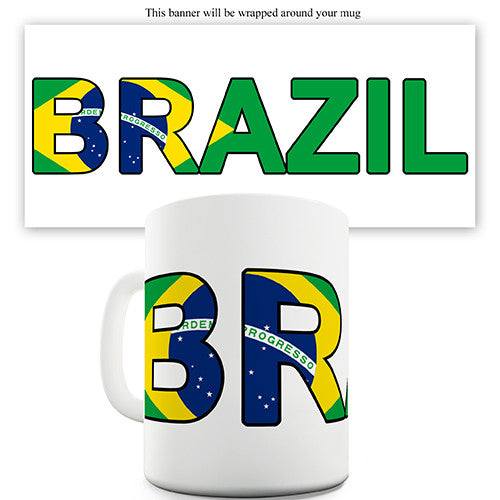 Brazil World Cup Flag Novelty Mug