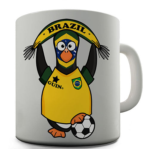 Brazil Soccer Guin World Cup Novelty Mug