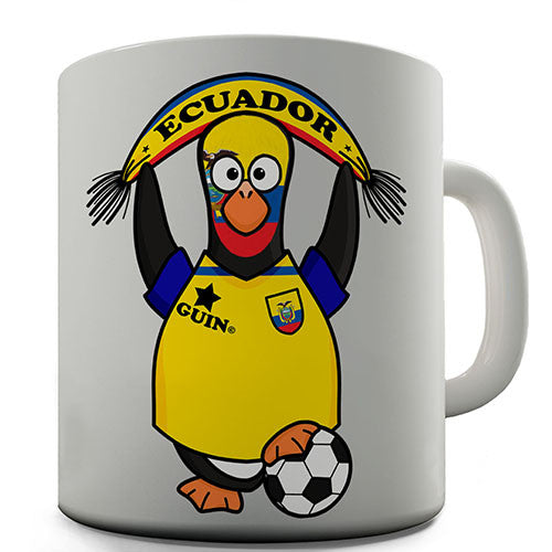 Ecuador Soccer Guin World Cup Novelty Mug