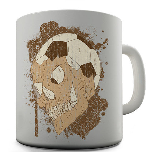 Football Soccer Skull Novelty Mug