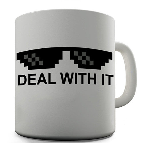 Deal With It Novelty Mug