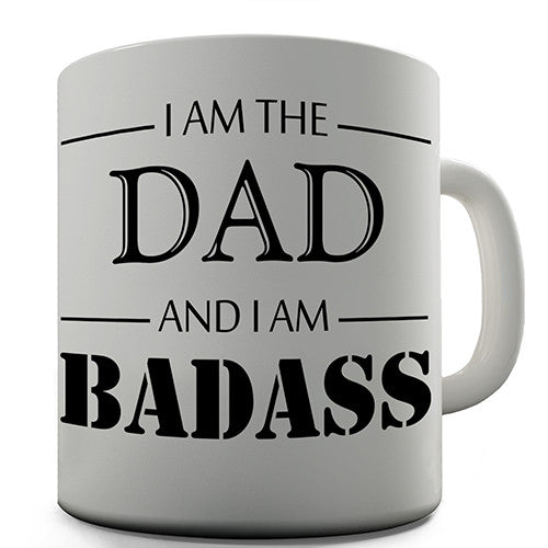 Badass Dad Novelty Mug