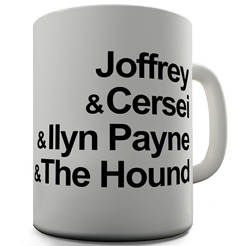 Arya's Death List Novelty Mug