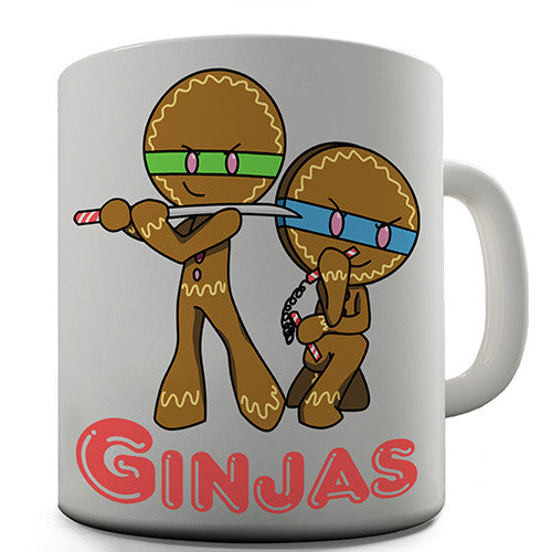 Gingerbread Ninjas Novelty Mug
