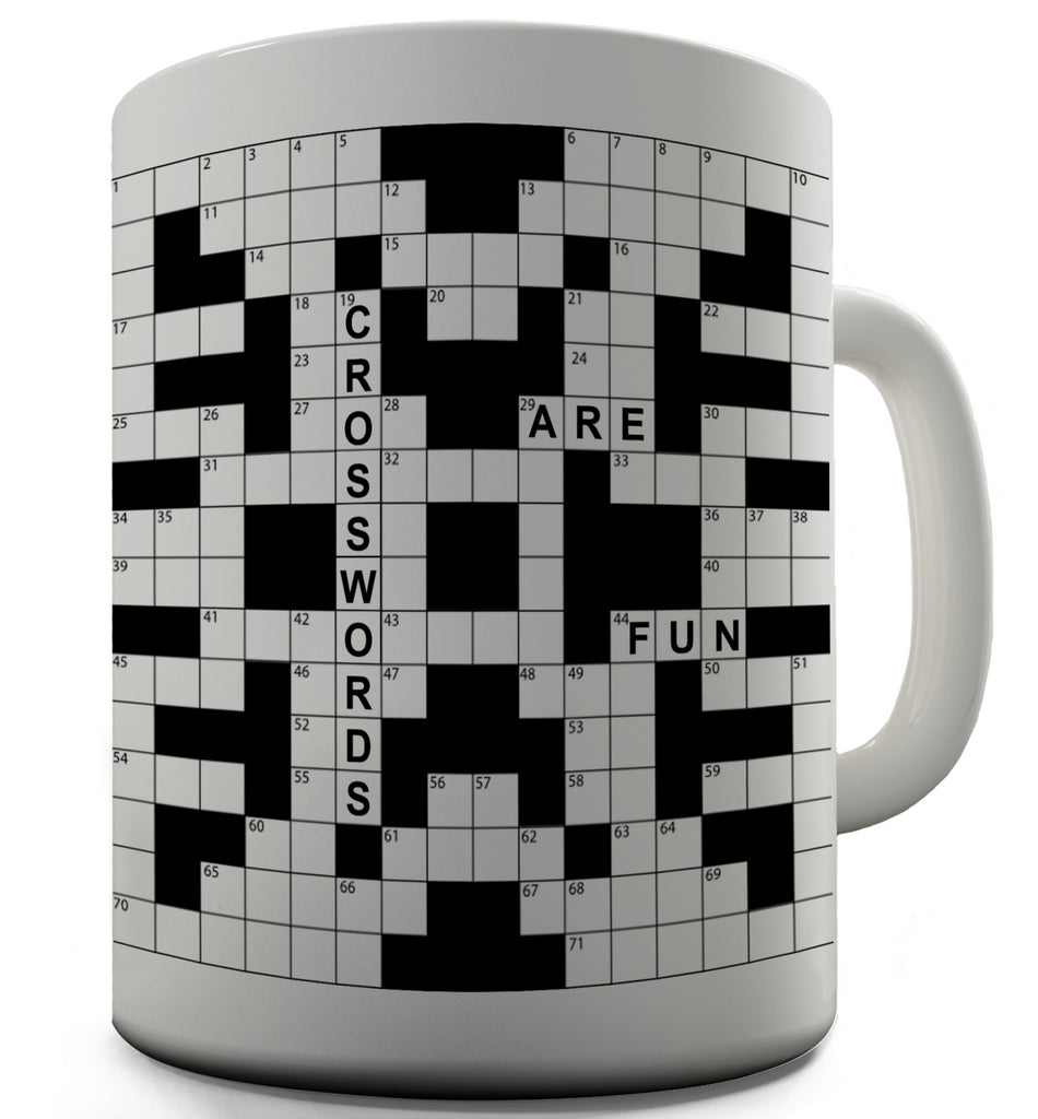 Crosswords Are Fun Novelty Mug