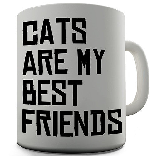 Cats Are My Best Friends Novelty Mug
