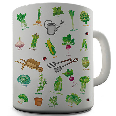 Gardening Tools Novelty Mug