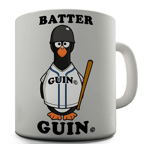 Baseball Batter Guin The Penguin Novelty Mug