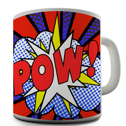 Comic Book Pow Novelty Mug