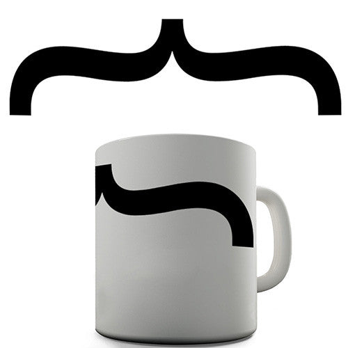 Bracket Moustache Novelty Mug