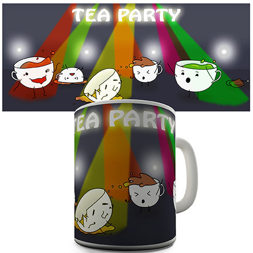 Disco Tea Party Novelty Mug