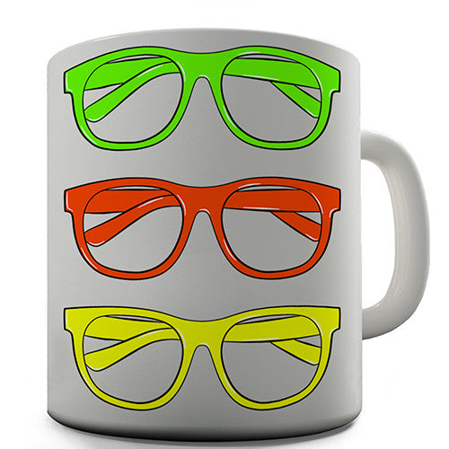 Coloured Glasses Novelty Mug