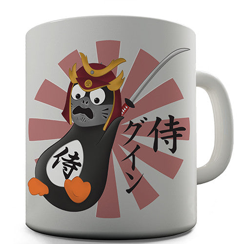 Action Samurai Guin Penguin Novelty Mug