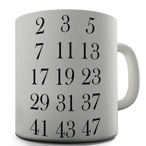 Math Prime Numbers Novelty Mug