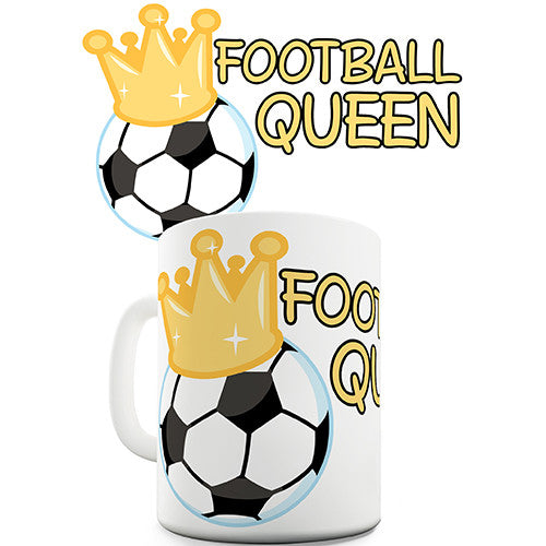 Football Queen Novelty Mug