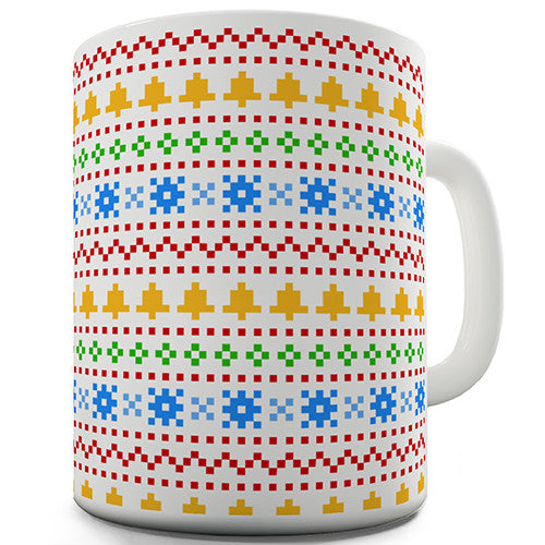 Christmas Sweater Pattern Novelty Mug
