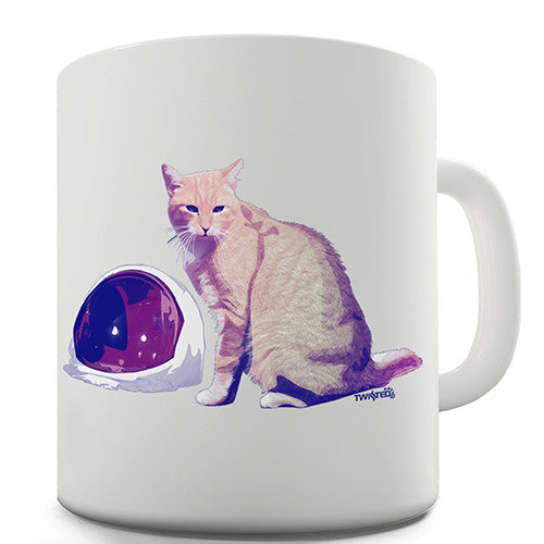 Cat Astronaut Helmet Novelty Mug