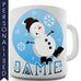 Blue Snowman Personalised Mug - Twisted Envy Funny, Novelty and Fashionable tees