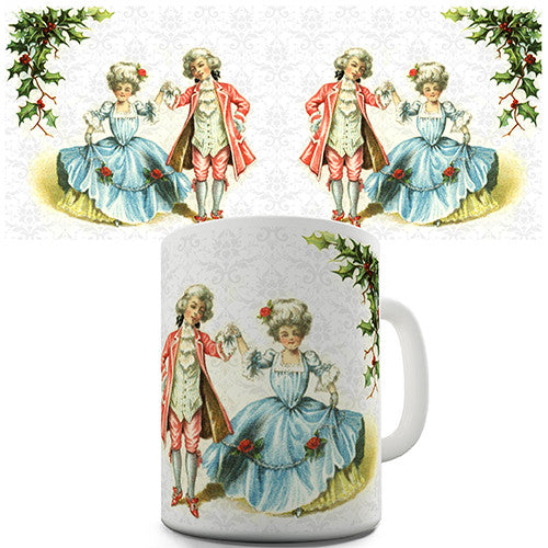 Christmas Card Dancing Children Novelty Mug