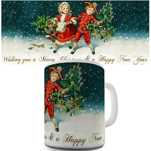 A Classic Christmas Card Novelty Mug