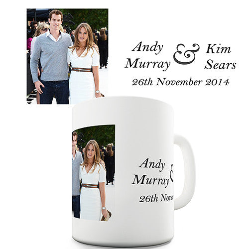 Andy Murray Engagement Novelty Mug