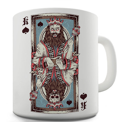 Dead King Of Spades Novelty Mug
