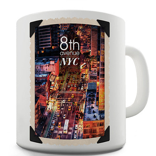 8th Avenue NYC New York Novelty Mug