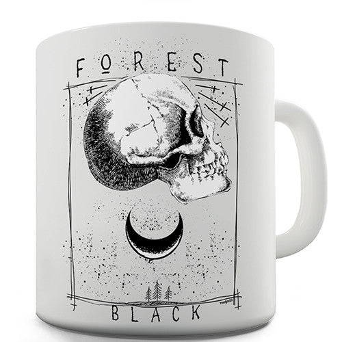 Black Forest Skull Moon Novelty Mug