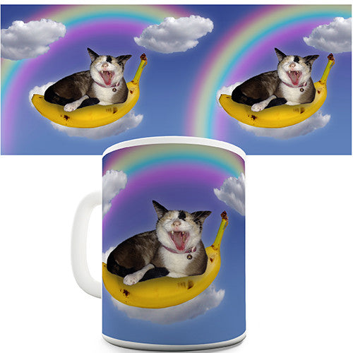 Cat Banana Rainbow Novelty Mug