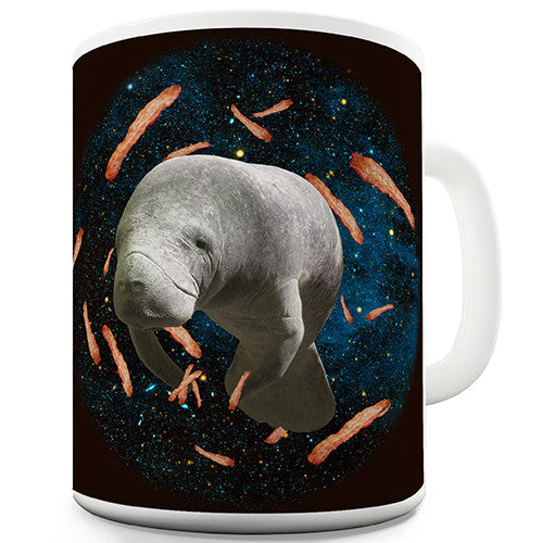 Space Bacon Manatee Novelty Mug
