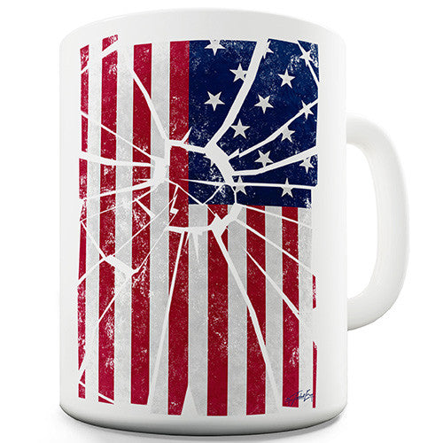 Distressed USA Flag Novelty Mug