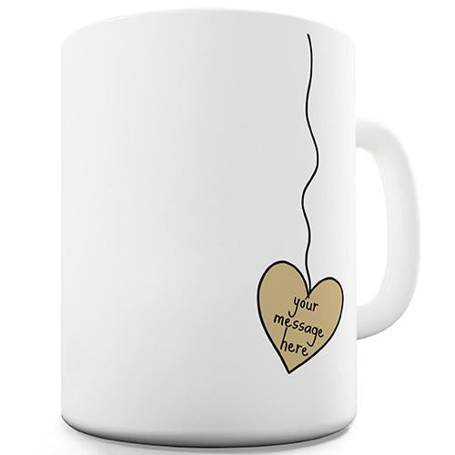 Heart Tea Bag Personalised Mug