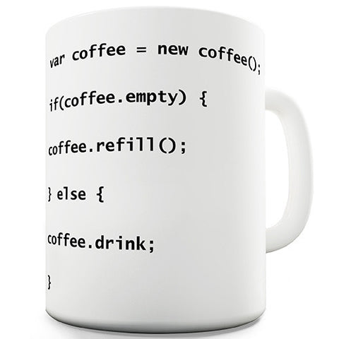 Programmers Coffee Code Novelty Mug