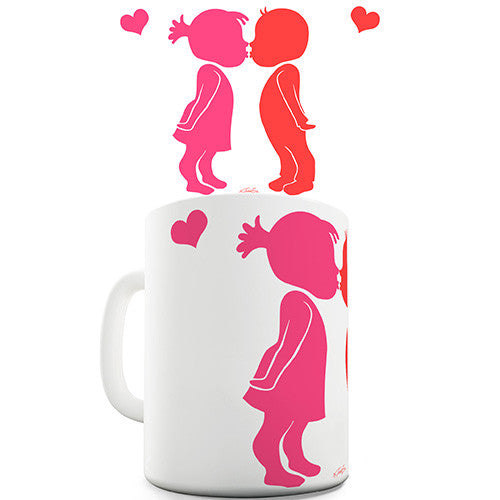 Cute Kids Kissing Novelty Mug
