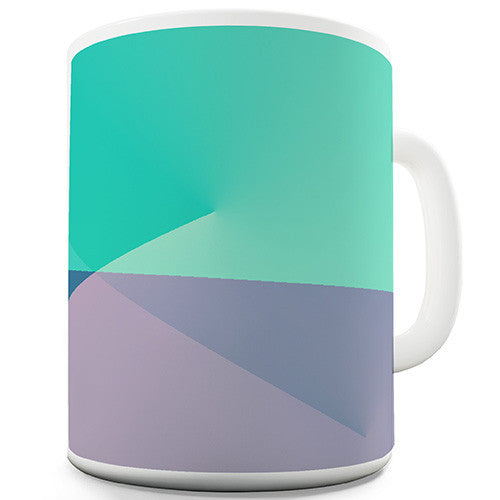 Blue Gradient Print Novelty Mug